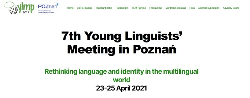 Young Linguists' Meeting in Poznań 23-25 April